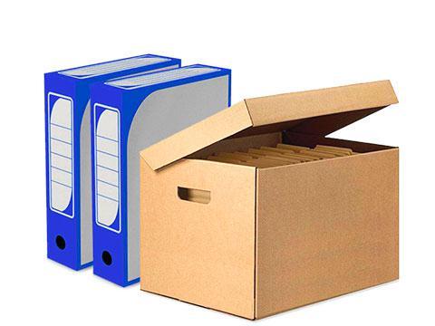 Архивные короба из гофрокартона для хранения документов