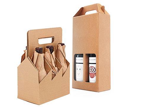 Упаковка для бутылок из гофрокартона